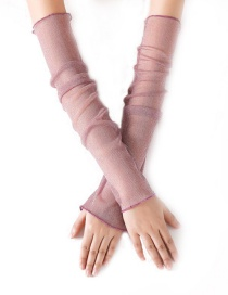 Fashion Pink Thin Mesh Gauze Foot Cover Dual-use Ice Silk Lace Gloves
