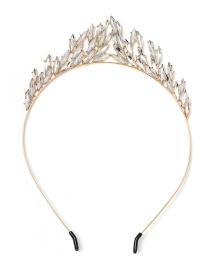 Fashion White Alloy Diamond Headband