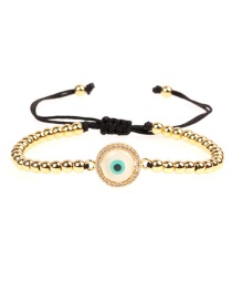 Fashion Gold Eyes Are Micro-inlaid With Diamond Shells: Pull Copper Beads Bracelets