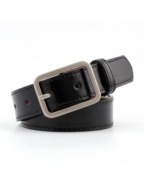 Fashion Black Japanese Word Buckle Belt