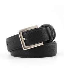 Fashion Black Square Pin Buckle Stripe