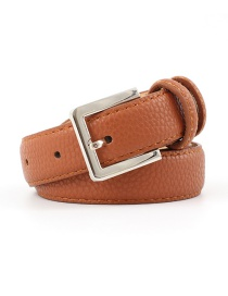 Fashion Camel Square Pin Buckle Stripe