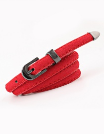 Fashion Red Pin Buckle Belt