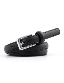 Fashion Black Pin Buckle Leather Belt