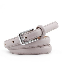 Fashion Light Purple Pin Buckle Leather Belt