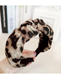 Fashion Yellow Leopard Knot Leopard Knotted Wide-brimmed Headband