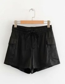 Fashion Black Satin Lace Shorts