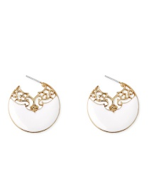 Fashion Gold S925 Silver Needle C-shaped Oil Drop Earrings