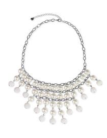 Fashion Silver Multi-layer Pearl Necklace