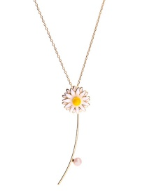 Fashion Gold Drop Oil Flower Necklace