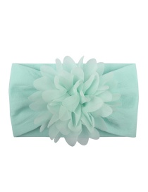 Fashion Light Blue Nylon Chiffon Flower Baby Hair Band