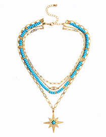 Fashion Gold Star Multi-layer Necklace