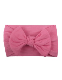 Fashion Medium Powder Nylon Bow Children's Hair Band