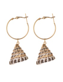 Fashion Gold Alloy Conch Earrings