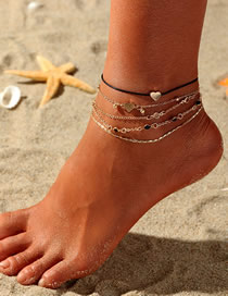 Fashion Gold Love Multi-piece Anklet