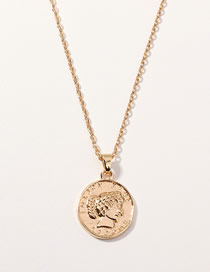 Fashion Gold Portrait Adjustable Necklace