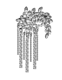 Fashion Silver Studded Tassel Hair Clip