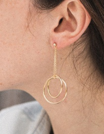 Fashion Gold Circle Stainless Steel Earrings