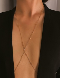 Fashion Gold 8-word Copper Bead Chain Body Chain