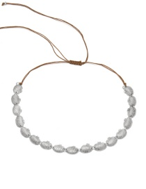 Fashion Necklace White K Shell Scalloped Shell Adjustable Necklace