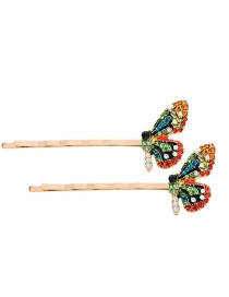 Fashion Color Butterfly-studded Hair Clip