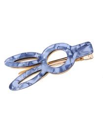 Fashion Blue Acrylic Hairpin