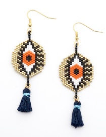 Fashion Blue Eye Tassel Earrings