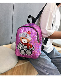 Fashion Purple Sequin Color Changing Backpack