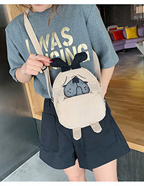 Fashion Khaki Puppy Shoulder Messenger Bag