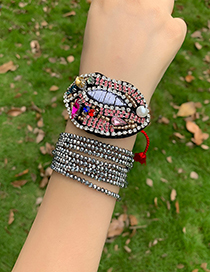 Fashion Color Beizhu Embroidered Diamond Mouth Adjustable Tassel Bracelet