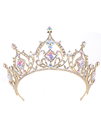 Fashion Gold Crystal Crown