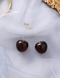 Fashion Red Wine Cherry Earrings