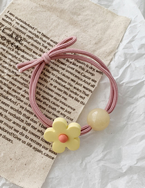 Fashion Beads - Yellow Flowers Contrast Flower Circle Hair Band