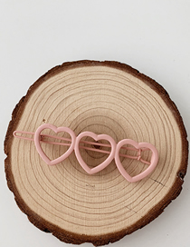 Fashion Love - Pink Frosted Geometric Hair Clip