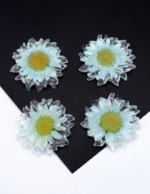 Fashion Light Blue Transparent Gold Foil Daisy Resin Accessories