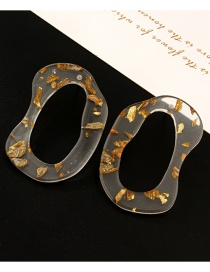 Fashion White Irregular Hollowed Out Earrings
