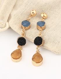 Fashion Yellow Imitation Natural Earrings