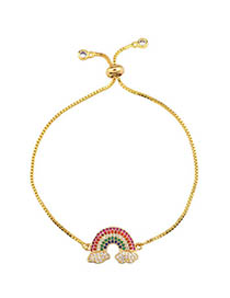 Fashion Rainbow Bracelet Gold Zircon Necklace