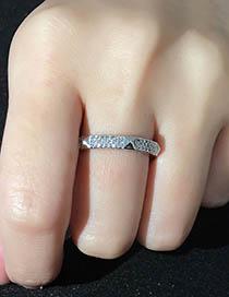 Fashion Silver Diamond Zircon Ring
