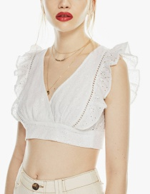 Fashion White Embroidered Top
