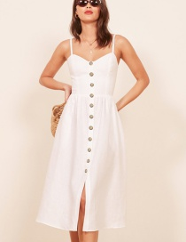 Fashion White Sling Dress