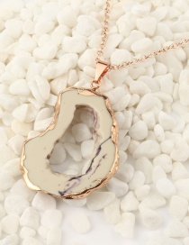 Fashion Mi Zi Imitation Natural Stone Hollow Resin Necklace