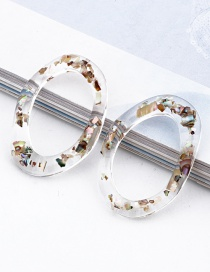 Fashion Transparent Coffee Color Scrub Irregular Transparent Resin Imitation Natural Stone Fittings