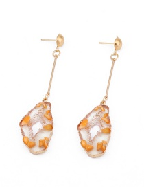 Fashion Orange Geometric Resin Earrings