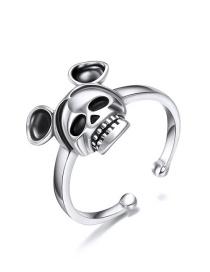 Fashion Silver 925 Silver Enamel Open Ring