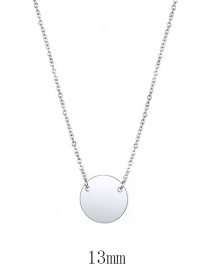 Fashion Steel Color Stainless Steel Round Necklace