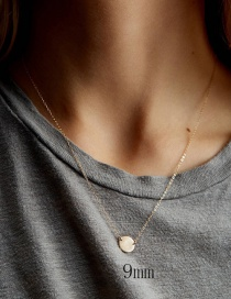 Fashion Gold Geometric Smooth Stainless Steel Necklace