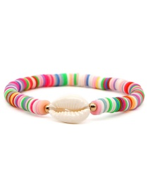 Fashion Color Natural Drip Shell Ceramic Piece Tassel Bracelet