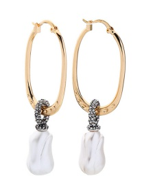 Gold Pearl And Diamond Earrings