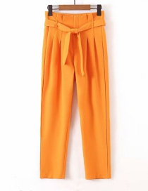 Fashion Orange Strap Straight Pants